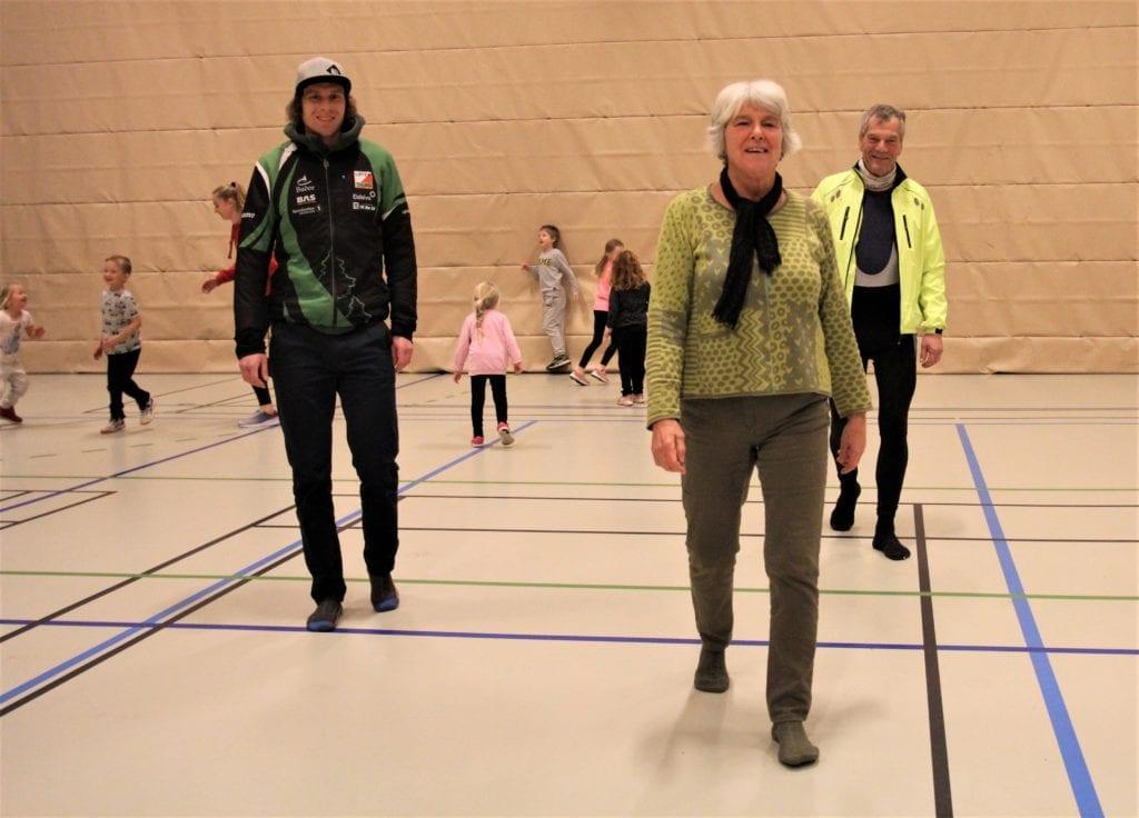 NYTT PROSJEKT: Marius Øie, Løten o-lag, Marit Trætteberg, Løten friidrett og Bjarne Kjøs, N/L ski.