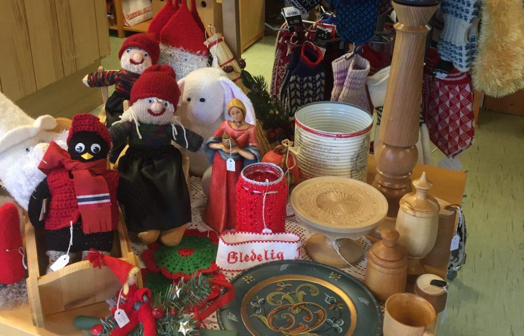 SNART JUL: Juleprodukter er selvsagt ekstra populært når det er julemesse.
